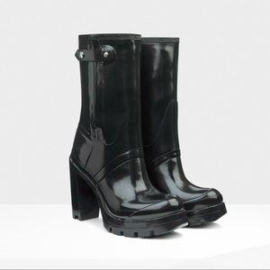 HUNTER Original Glossy High Heel Boot